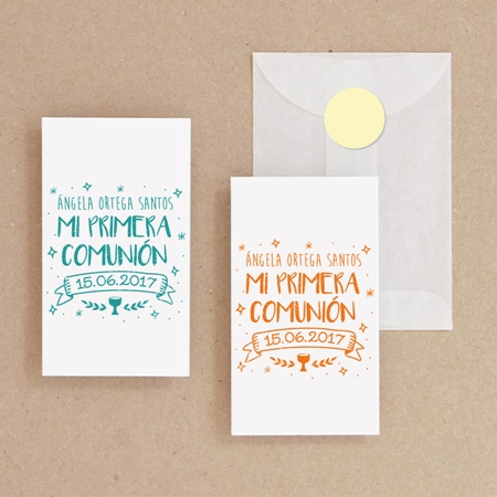 recordatorios de comunion DIY sello