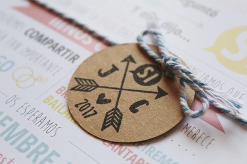 sello personalizado boda iniciales