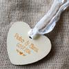 sello personalizado hoja y corazón