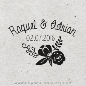 sello personalizado para boda