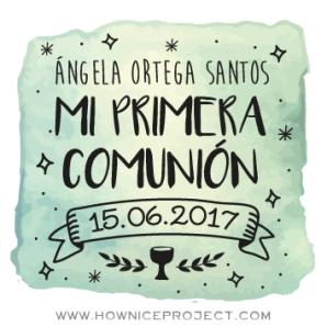 sello personalizado para comunión