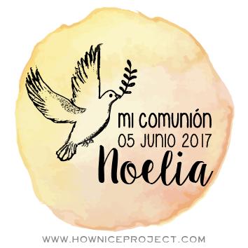sello primera comunión paloma