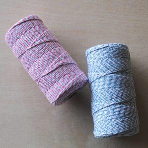 rollo cuerda rosa blanco azul blanco