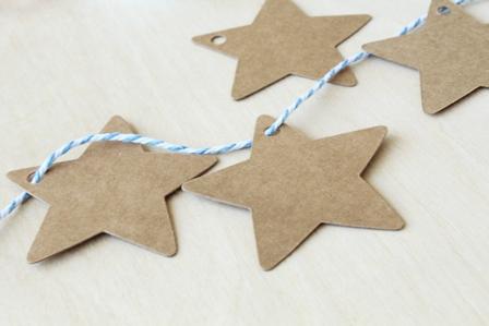 Etiquetas papel reciclado estrella