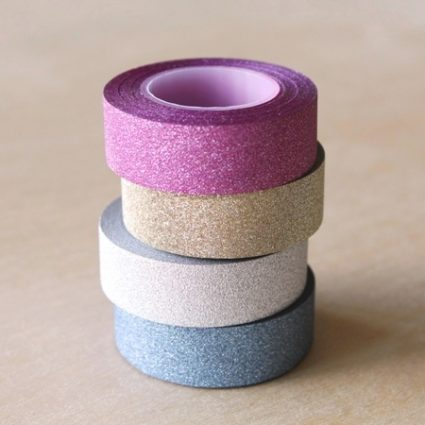 washi tape con brillo