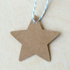 Etiquetas kraft estrella