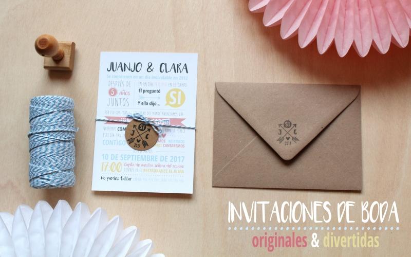 invitaciones boda con sello personalizado