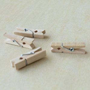 Pinzas de madera boda