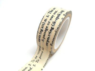 cinta adhesiva decorativa diccionario