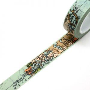 washi tape mapamundi