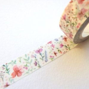 washi tape flores