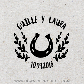 sello para boda ecuestre andaluza