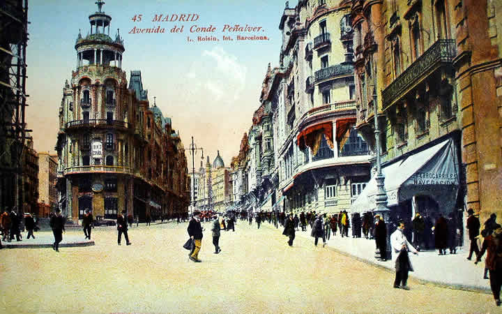 carta postal antigua madrid