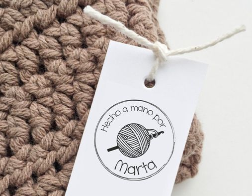etiquetas personalizada para crochet y ganchillo