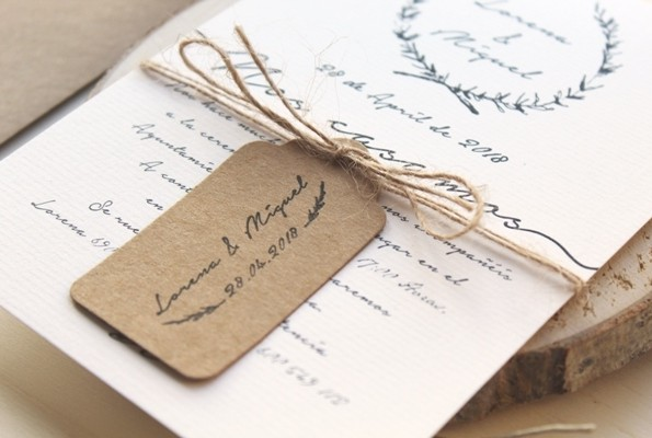sello personalizado boda hojas