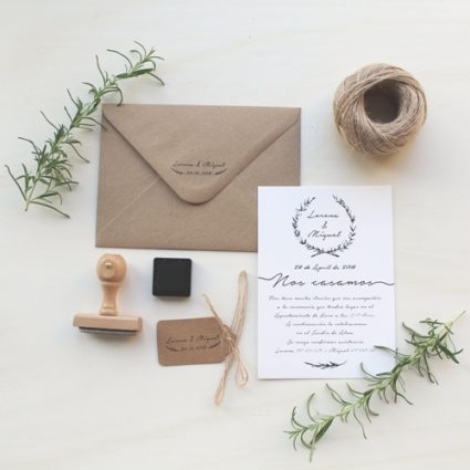 invitaciones de boda rusticas
