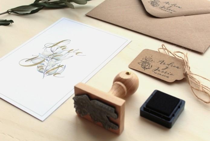 invitaciones de boda con sello y cuerda