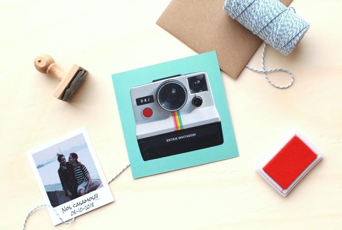 invitaciones foto polaroid