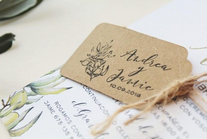sello personalizado boda caligrafia moderna y rama