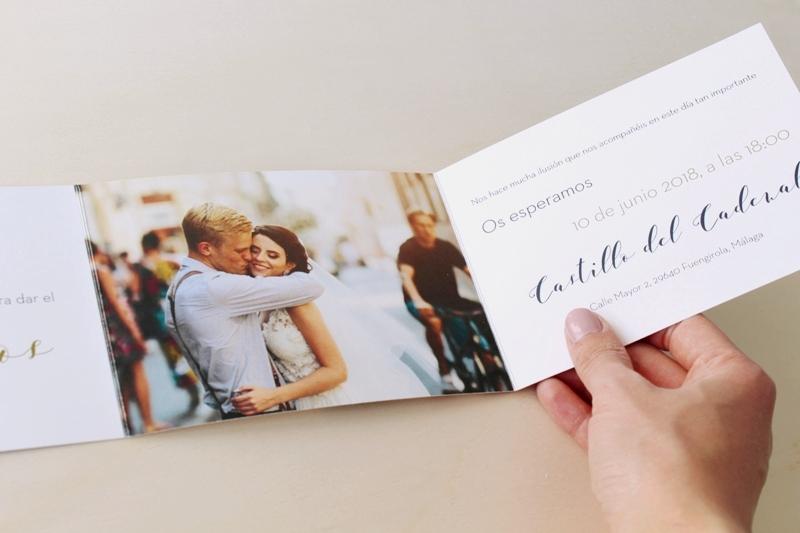 invitaciones de boda elegantes con fotos