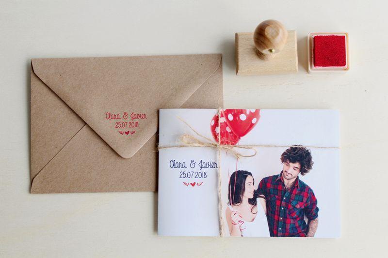invitaciones de boda con sello personalizado