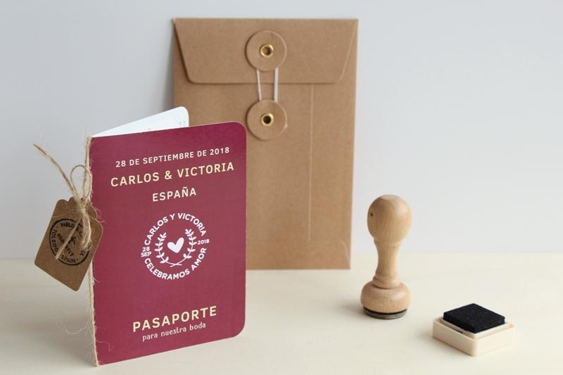 set de invitaciones de boda pasaporte