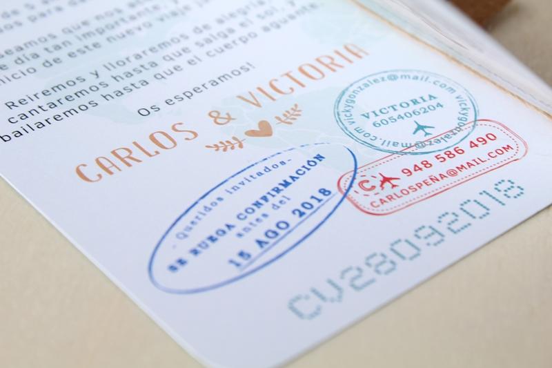 invitaciones de boda con tema viaje