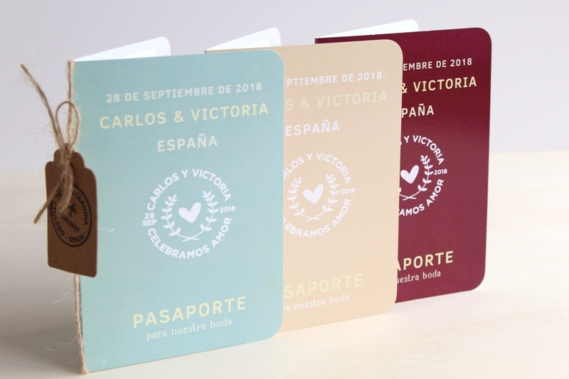 invitaciones de boda originales passport