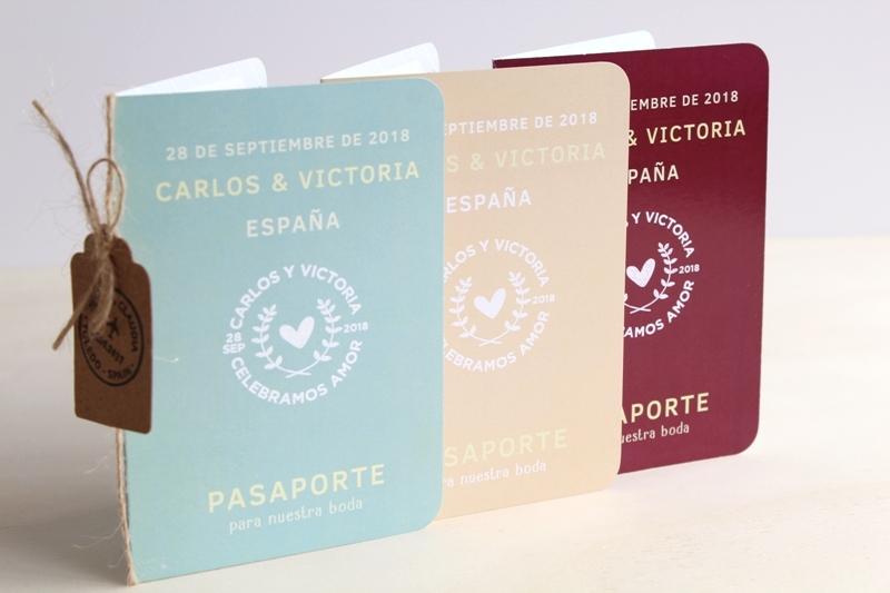 invitaciones de boda originales passport