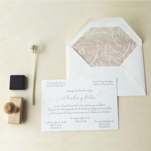 invitaciones de boda sencillas rusticas