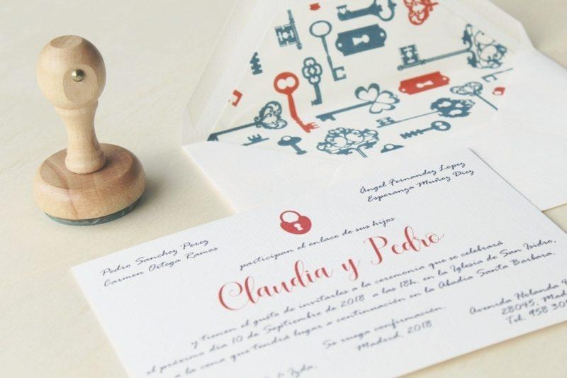 sobres forrados para invitaciones de boda