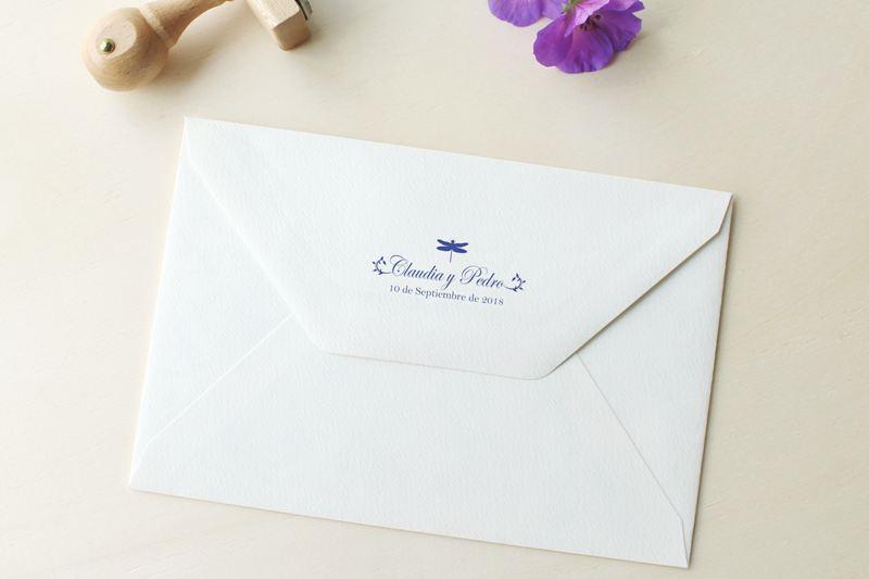 sello personalizado para solapa de sobres