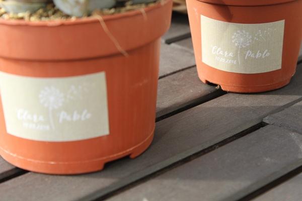 pegatinas personalizadas para detalles de bodas plantas