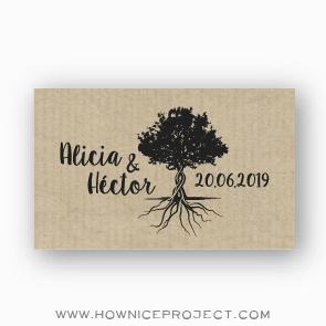 pegatinas personalizadas para boda - árbol