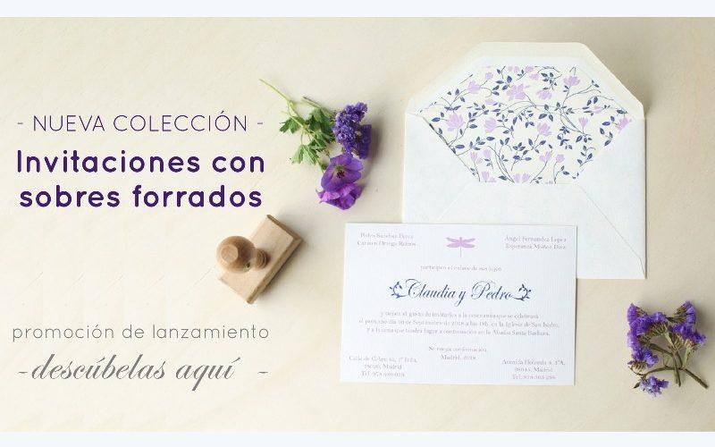invitaciones de boda con sobres forrados