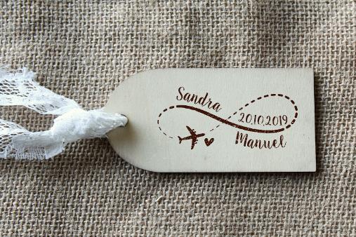 cuño personalizado boda boda viajera