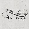 segell casament viatge símbol infinit