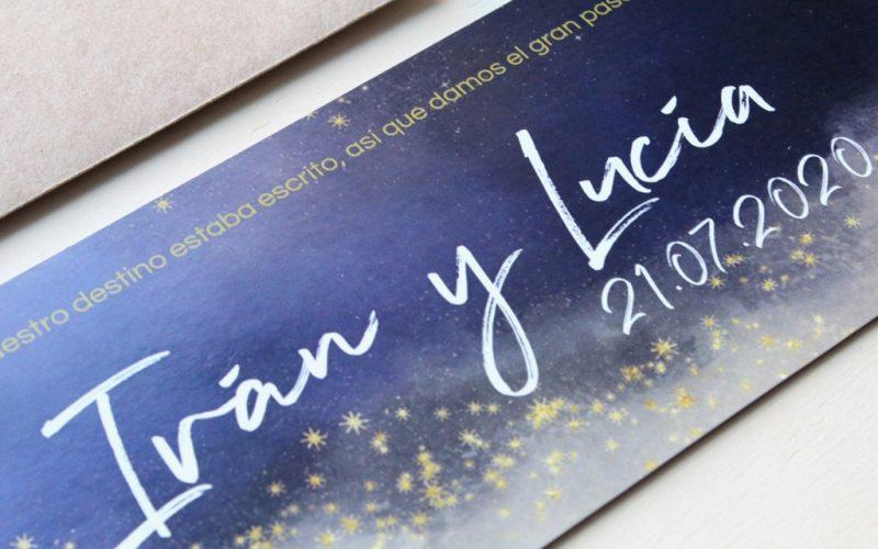invitaciones de boda constelaciones