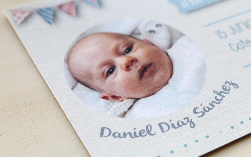 recordatorios bautizo con foto de bebe