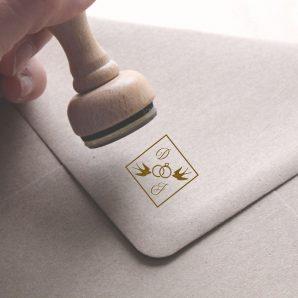 sello personalizado pequeño 2 cm