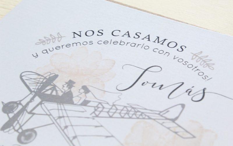 invitaciones originales para boda viajera