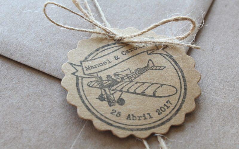 sello para boda de viajes