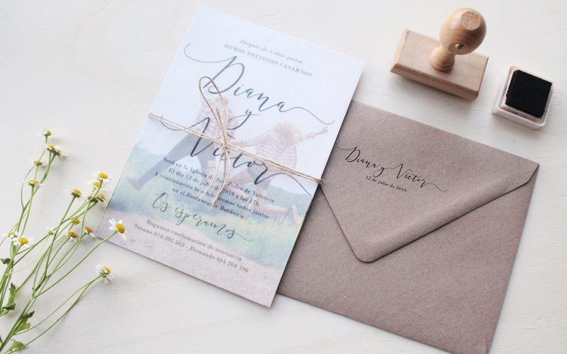 invitaciones de boda elegantes con foto