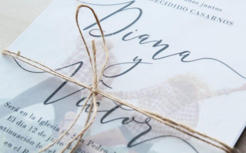 invitaciones de boda sencillas con foto