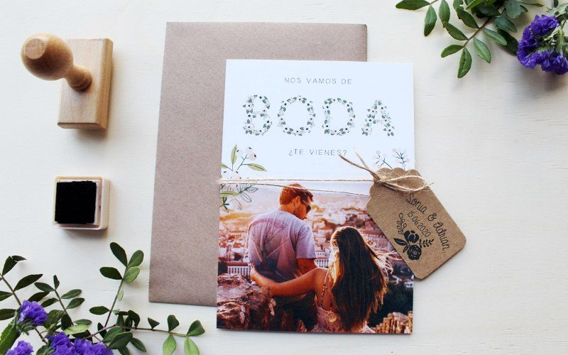 invitaciones de boda para boda viajera