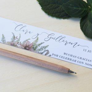 bolígrafos de madera detalles de boda
