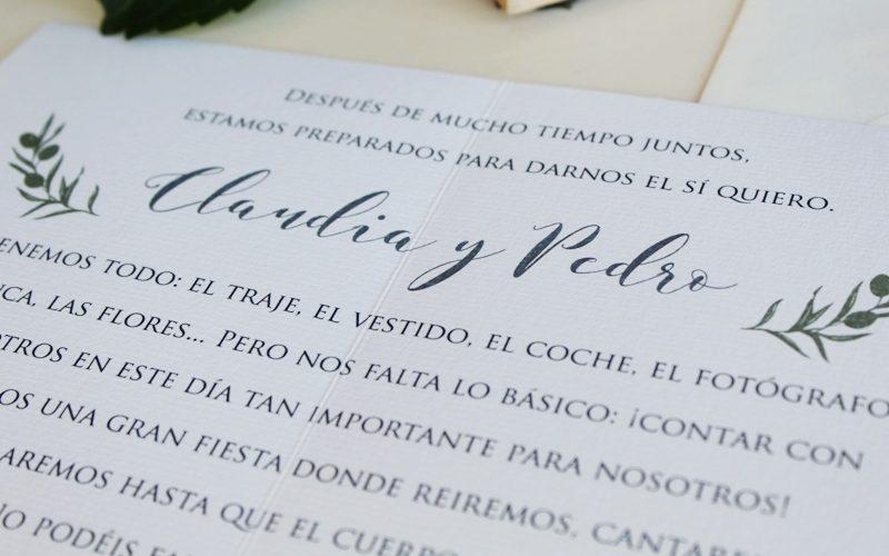 invitaciones de boda clasicas bonitas